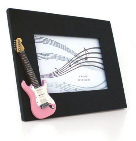 Photo Frame, Pink Electric Guitar 6 x 4